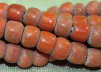 Strand of 6mm Orange-Red Indonesian Beads; Lou Zeldis Components
