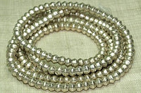 4.5mm New Silver Bicone Beads from Ethiopia
