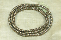 4mm Silver Color Base Metal Heishi from Ethiopia