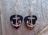 Anchor Charm Guitar Pick Earrings - Pick Your Color