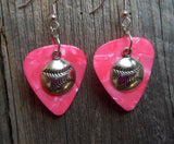 Baseball Charm Guitar Pick Earrings - Pick Your Color