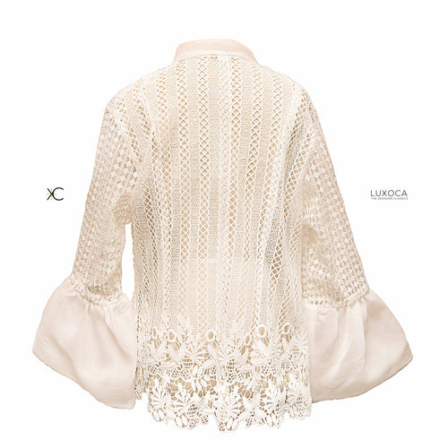 PISTIS White Lace Top- Medium