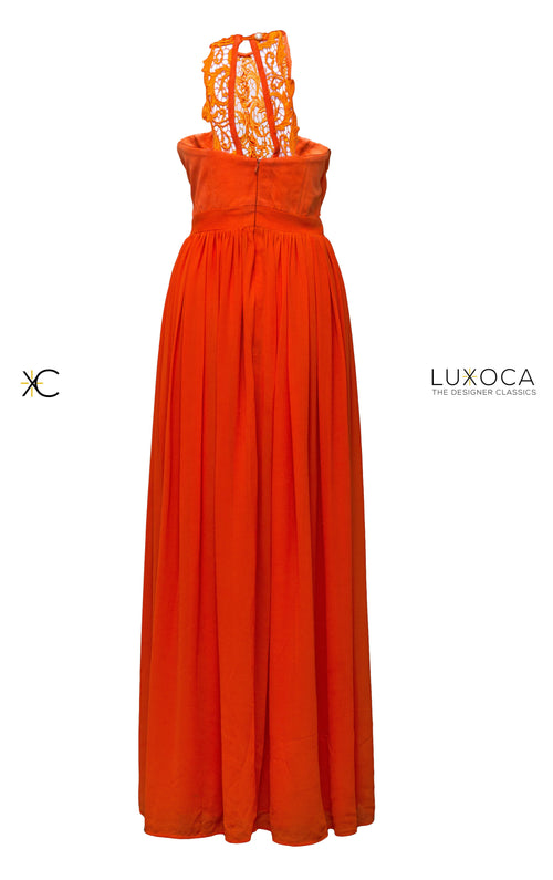 Christie Brown Orange Maxi Dress