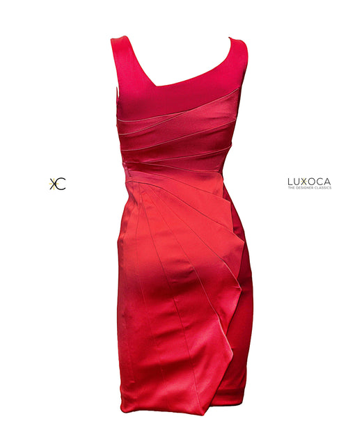 Karen Millen Red Satin Dress
