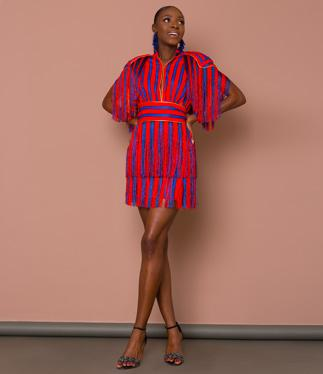 Striped Tassel Colourful Dress