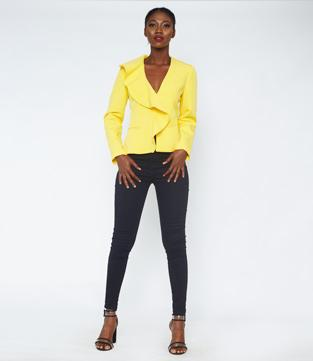 Yellow Ruffle Jacket