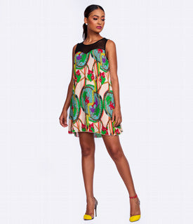 Multicolored Shift Summer Dress