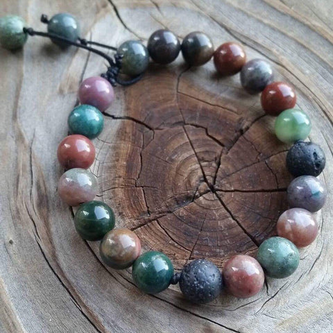Essential oil diffuser bracelet - fancy jasper