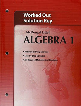 McDougal Littell Algebra 1 Worked-Out Solutions Key