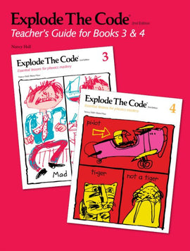 Explode the Code Teacher's Guide/Key, Books 3 - 4, 2nd Edition
