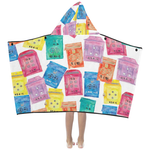 Hong Kong themed beach towel for kids by petit crayon studio - premium hong kong themed gift idea towel