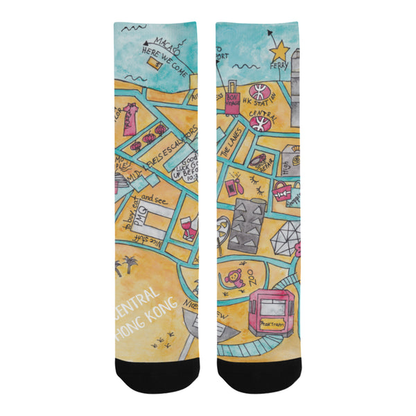 Souvenir pair of socks for men and women, Hong Kong souvenir, gift to offer, farewell gift