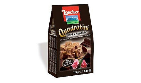 Loacker Quadratini Dark (Chocolate), 125gm
