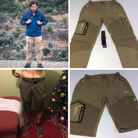 Image of Quick Dry Trousers For Camping Hiking Pants For Men Women