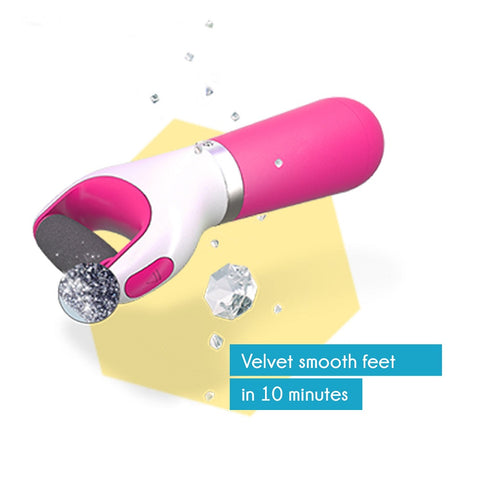 Scholl Velvet Smooth Electronic Foot file PINK With Diamond Crystals - Cantomart.co.za
