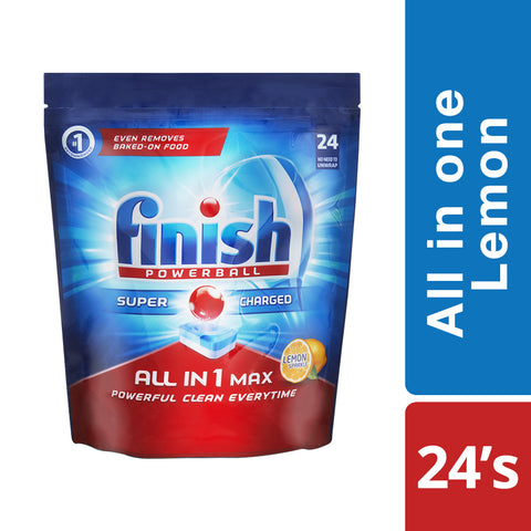 Finish All in One Dishwashing Tablets  Lemon - 24'S - Cantomart.co.za