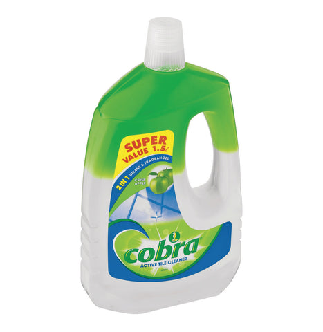 Cobra Active Tile Cleaner crisp apple - 1.5lt - Cantomart.co.za
