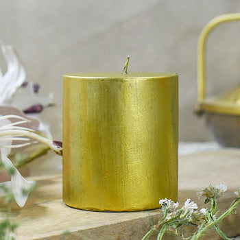 Gold Block Candle