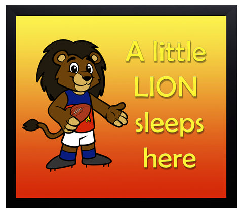 Kid's Room Sign - Lions