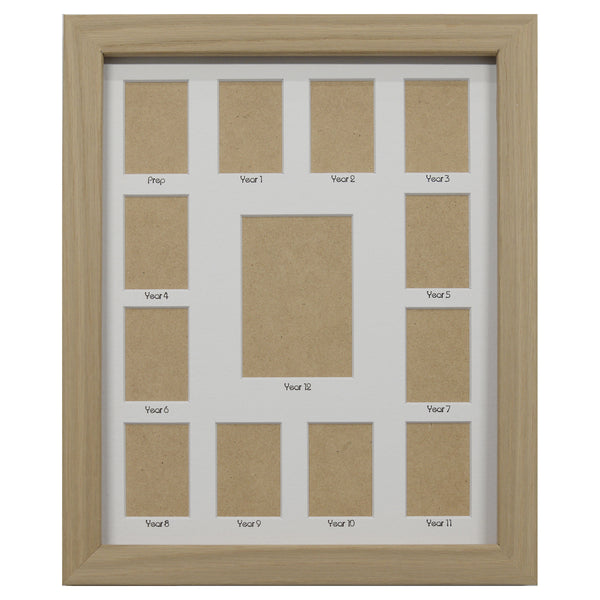 School Years Photo Frame - Small - White Mat with Black Writing