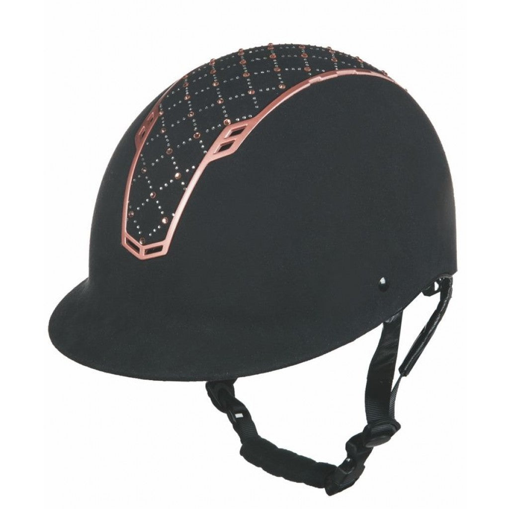 HKM Riding Helmet Linz Black & Rose Gold