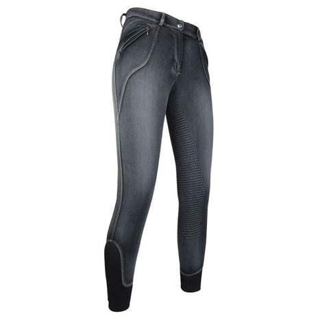 HKM Sedona Full Seat Silcone Demin Breeches