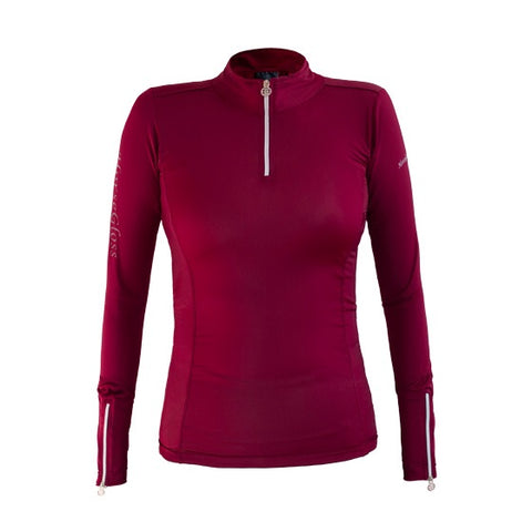HorseGloss Bella Base Layer Burgandy
