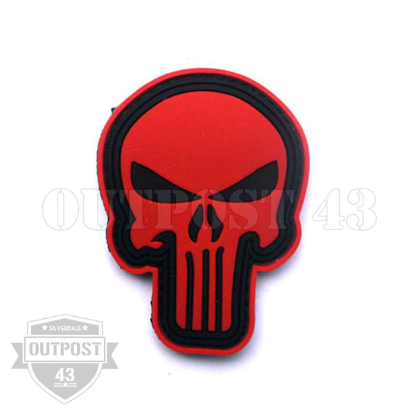 Patch PVC  - Punisher Skull - Red