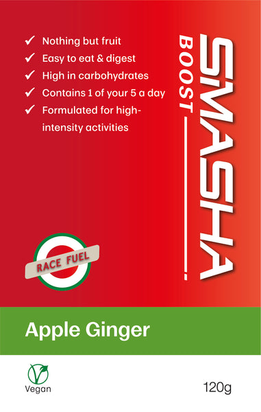 SMASHA Boost Apple Ginger, natural sports nutrition. 120 g pouch
