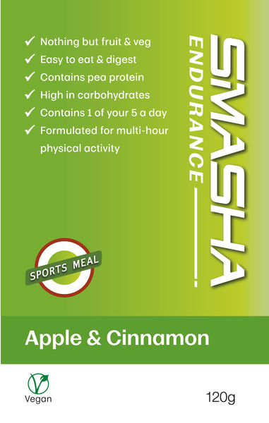 SMASHA Endurance Apple & Cinnamon, natural sports nutrition. 120 g pouch
