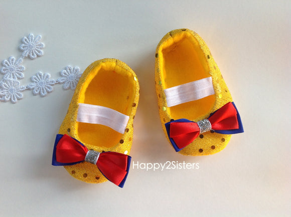 Soft soled shoes, Baby Gift, Newborn Shoes Yellow girl shoes