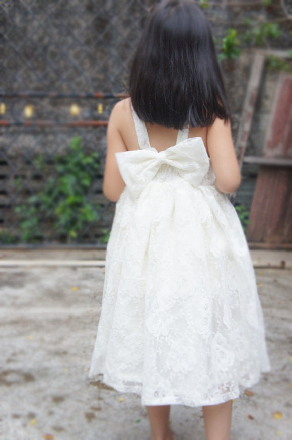 Ivory lace flower girl dress Lace flower girl dress Flower girl dresses