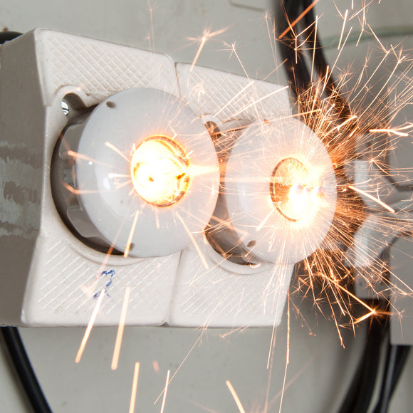 overloaded circut sparks, electrical safety