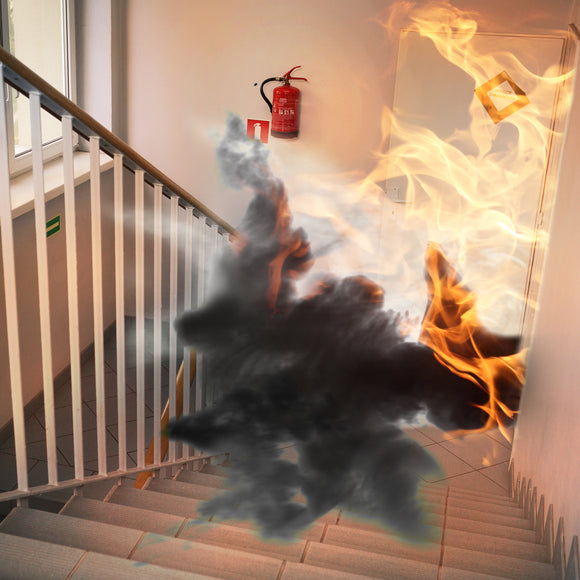 stairwell fire, fire prevention