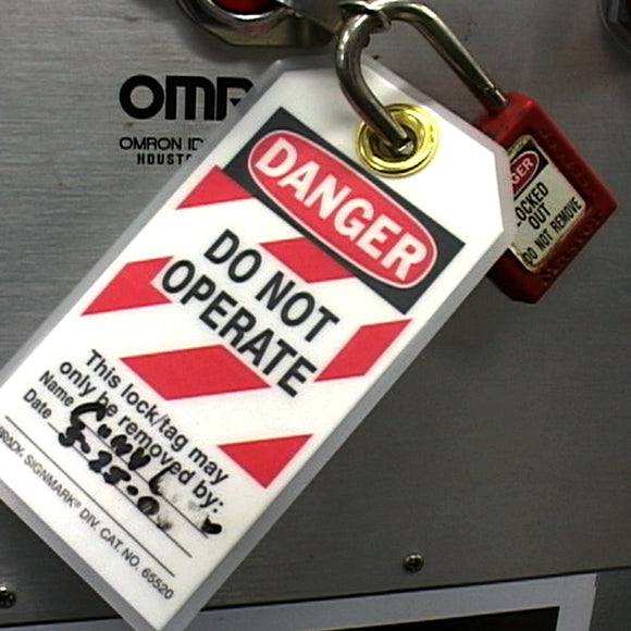 lockout do not operate tag on damaged equipment