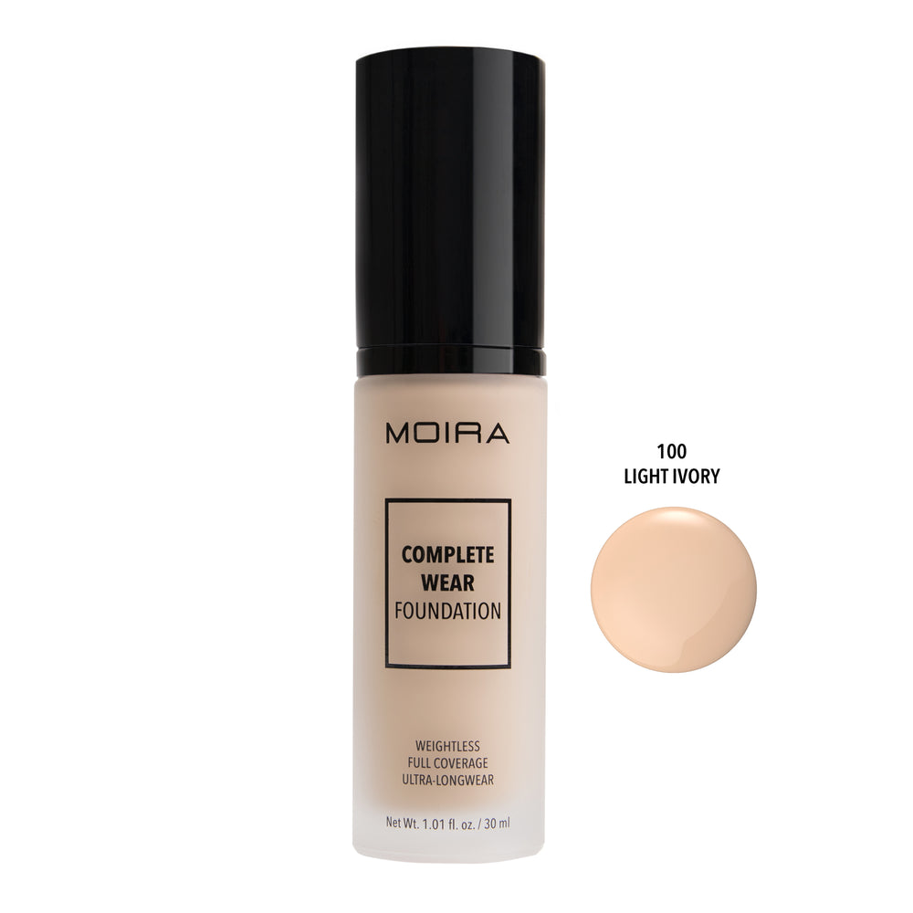 Moira Cosmetics - Complete Wear Foundation 100 - Light Ivory