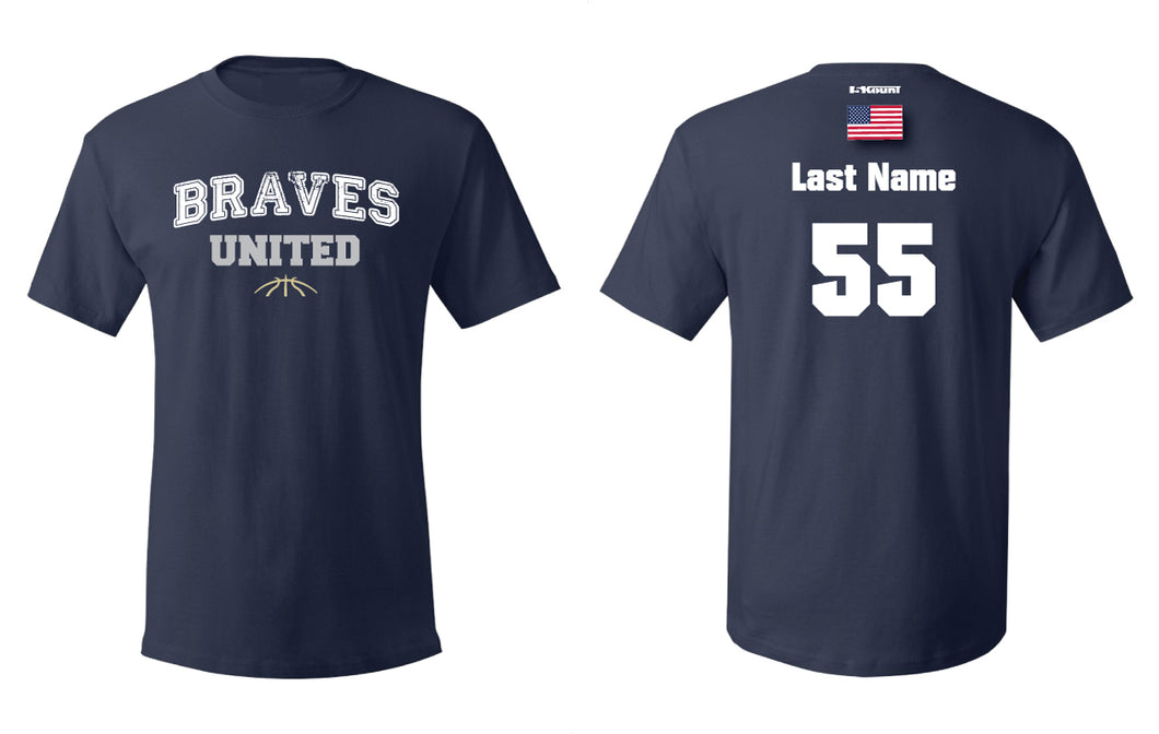 Braves Basketball Cotton crew Tee - Navy