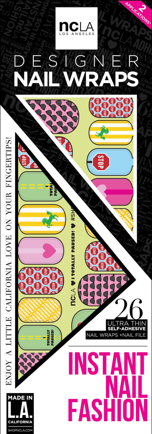 NCLA Nail Wraps I Totally Paused!