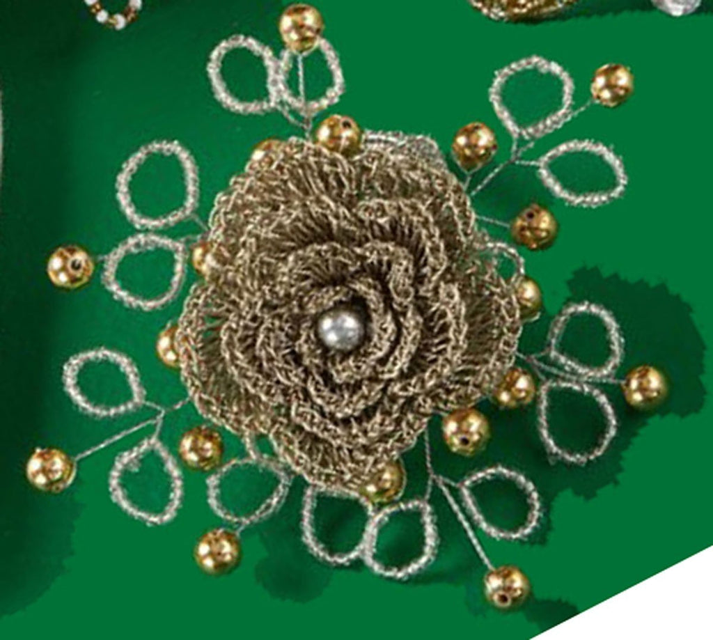 Two's Company Brocante Beaded Flower Napkin Ring