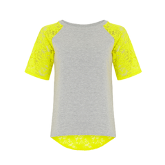 Acid Love Lace Top in Yellow + Grey