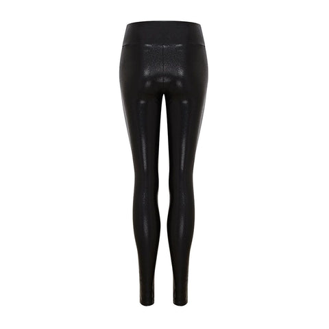 High Waisted Leggings in Black Gloss