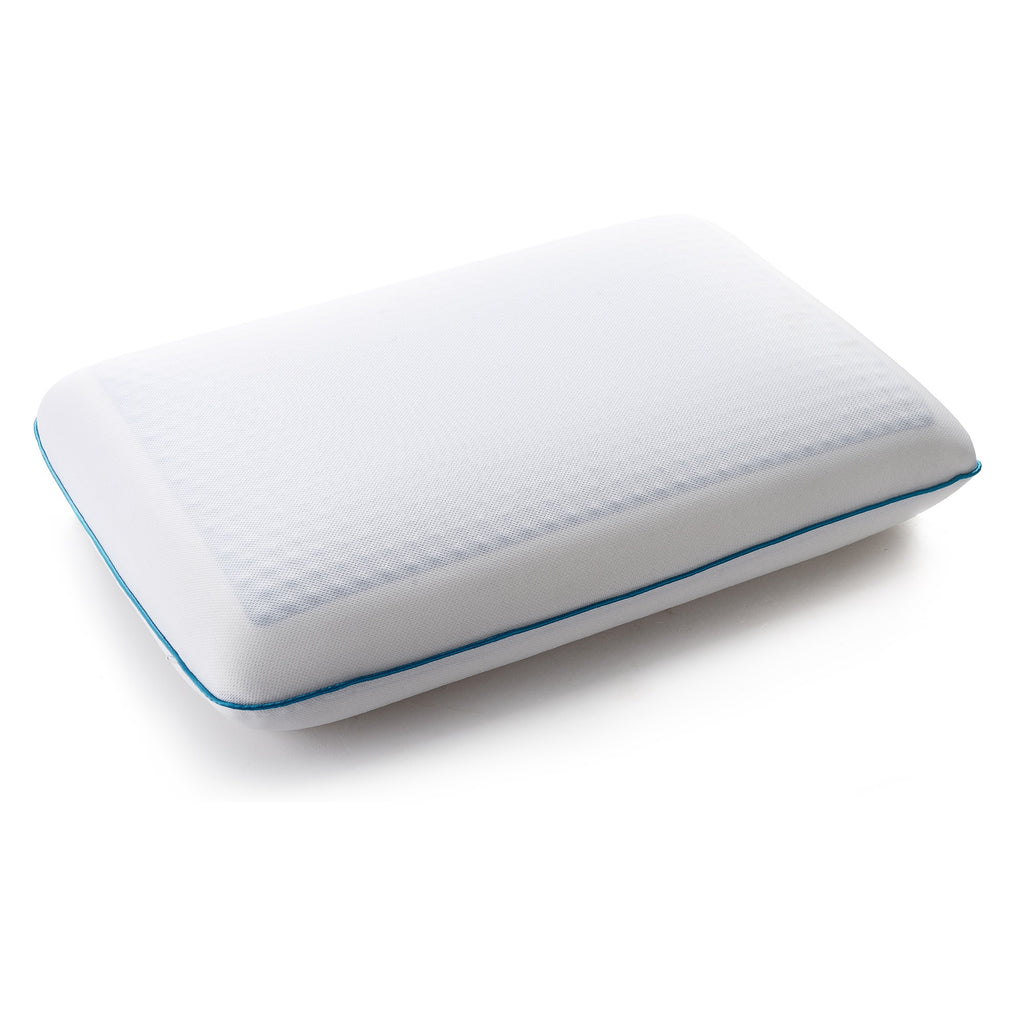 Cheer Collection Reversible Memory Foam Bed Pillow with Comfort-Enhancing Cooling Gel and Breathable Zip-off Cover