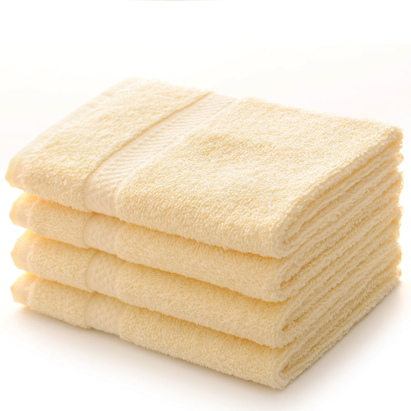 Cheer Collection 550 GSM Wash Cloth Set (Set of 4) - Assorted Colors