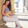 Pearl Grey Compression Leggings