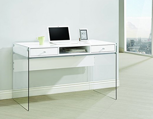 Minimalist Glass Office Desk by Coaster