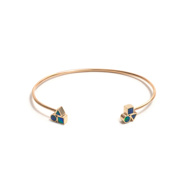 Golden Opal Element Cluster Cuff