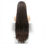 Rechoo Dark Brown Ombre Braiding Synthetic Lace Front Wig