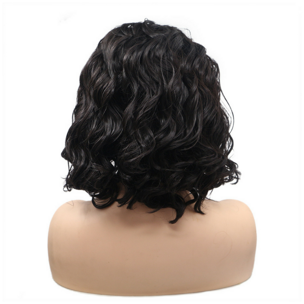 Rechoo Bob Wavy Synthetic Lace Front Wigs