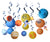 Outer space theme party supply kit swirl party decoration - paperjazz