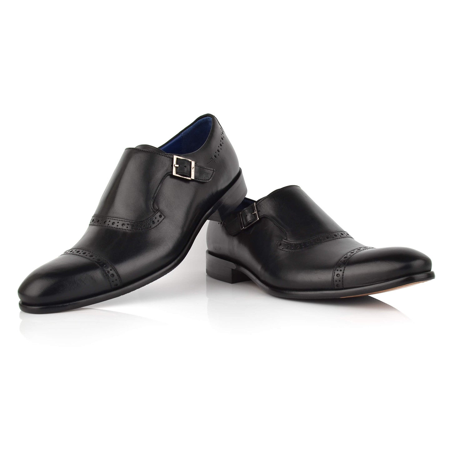 LM410 - Language Paco Men's Formal Black Monk Shoes